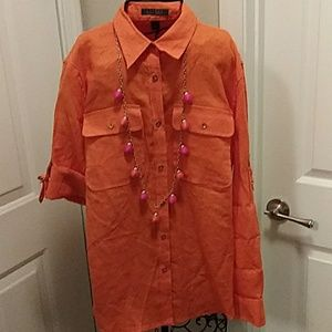 Ralph Lauren 100% linen blouse